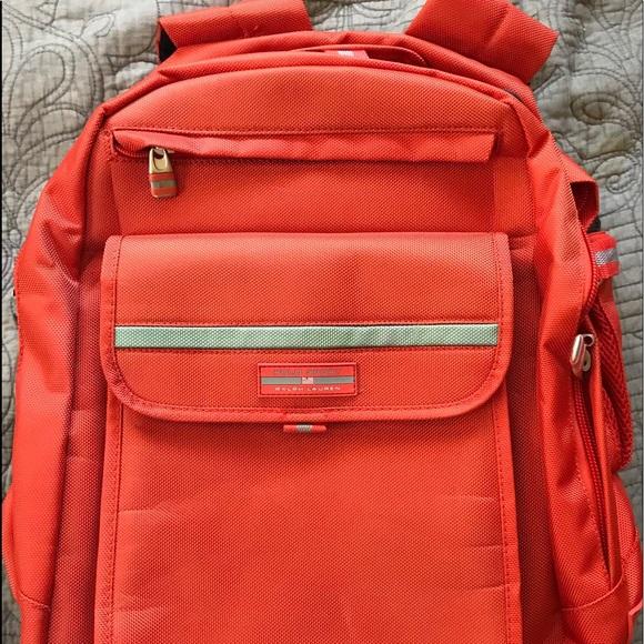 Ralph Sport Backpack Orange Polo Lauren Large iXkPZu